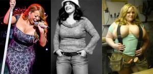 Mulheres bem acima do peso