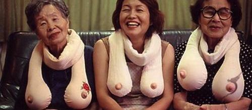 Tiazinhas japonesas pagando de peitudas