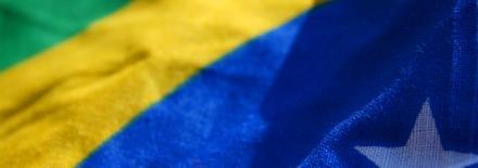 Pedaço da bandeira do Brasil