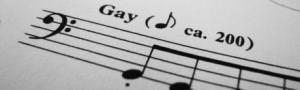 """Notas musicais de uma música chamada """"gay"""""""
