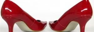 Sandália de salto alto vermelha