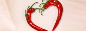 dua pimentas formando um coração
