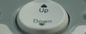 """Botão com indicação """"Up"""" e """"Down"""""""