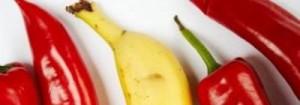 Uma banana e quatro pimentas