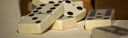 Peças do jogo de dominó