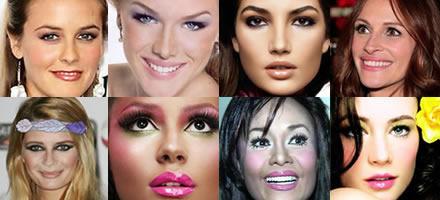 Mulheres maquiadas de forma diferente