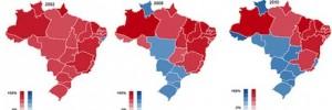 Mapa do brasil em forma de gráfico