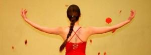 mulher de costas