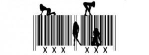 código de barras e mulheres em algumas posições