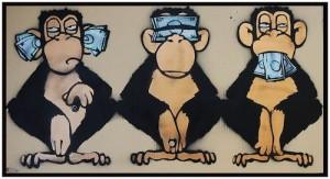 Macacos: surdo, cego e mudo