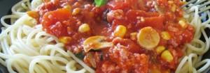 macarrão com molho vermelho